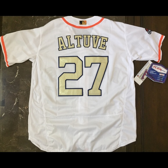 finest selection 762b7 06049 Jose Altuve Houston Astros gold jersey NWT